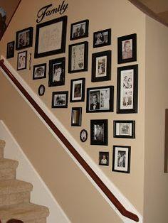 Crafty in Crosby: Black & White Photo Wall