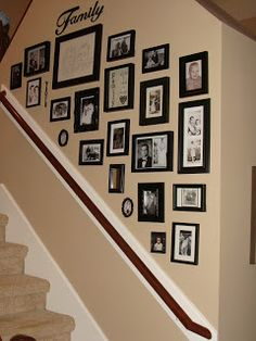 Staircase Photo Frame Placement Idea But Only If We Put