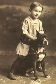 Vintage pic of an American Pitbull Terrier and a young boy, back when pitbull were considered nursery dogs! I don't think I will ever have another dog that isn't a pitbull.