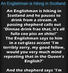 An Englishman is hiking in Scotland – Jokes Jelly Scotland Hiking, The Englishman, Great Stories, Cut Glass, Jelly, I Am Awesome, Jokes, Cards Against Humanity, Marmalade