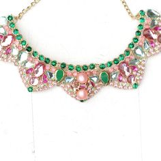 muse gem statement necklace jadelyn boutique colors are