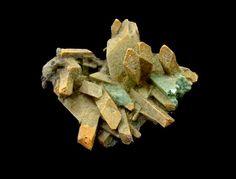 Melanterite, Rammelsberg Mine, Goslar, Harz, Lower Saxony, Germany. Greenish Melanterite xx than 3.8 cm wide. Dimensions: 40 x 32 x 15 mm. Collection/Copyright: raritätenjäger
