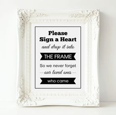 Wedding Drop Box Guest Book Sign Banner Heart Drop by OrchardBerry