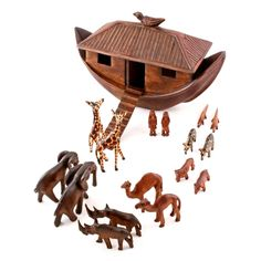 Kenyan wood carvers tell the story of Noah's Ark with jacaranda wood in this heirloom-quality toy set, guaranteed to delight both children and adults. Description from sneakpeeq.com. I searched for this on bing.com/images