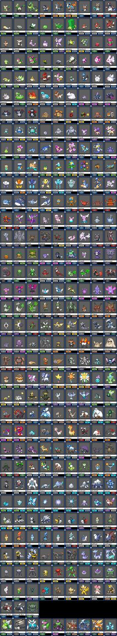 Pokédex made by WaterTrainer. This is AWESOME!  *Fakemon*, but cool!