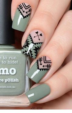 Geometric Nail Art Ideas - New Year Nails The whole world of fashion, and so does the manicure world is full of very beautiful, original and creative Nagellack Design, Nagellack Trends, Cute Nail Art, Beautiful Nail Art, Best Nail Art, Geometric Nail Art, Super Nails, Nagel Gel, Trendy Nails