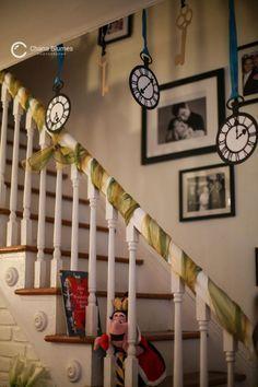 Alice in Wonderland decor - clock faces