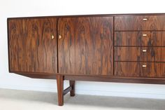 Rosewood Fristho Sideboard Design by Rudolf Bernd Glatzel, Holland 1960's | From a unique collection of antique and modern sideboards at https://www.1stdibs.com/furniture/storage-case-pieces/sideboards/