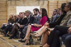 Crown Princess Mary attended the opening of the International School of Aarhus Academy for Global Education on September 16, 2015 in Aarhus, Denmark.