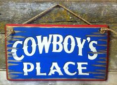 Cowboy's Place Western Antiqued Wooden by CowboyBrandFurniture