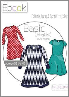 Ebook Damen Basic Winterkleid - Schnittmuster und Anleitung als PDF, versandkostenfrei