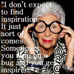 Inspiration just comes Anna Dello Russo, Dolce & Gabbana, Alexa Chung, Iris Apfel Documentary, Who What Wear, Lanvin, Fashion Documentaries, Tavi Gevinson, Dior