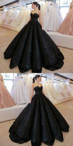 Modest black sweetheart prom dresses b438d1e26701