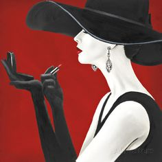 Haute Chapeau Rouge II Poster por Marco Fabiano na AllPosters.com.br