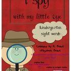 Sight Word I Spy Kindergarten Sight Words $2.50