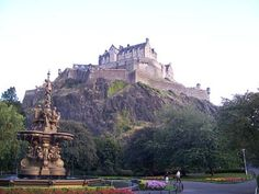 Edinburgh Castle located in Scotland..
