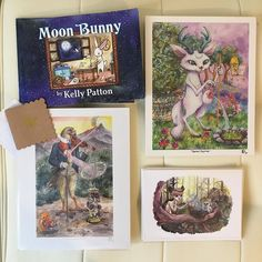 I love shipping prints books and greeting cards thanks guys! My Etsy is more stocked than ever right now and I can frame anything by request. The link to my shop is in my profile or just search for Kelly Patton Art at etsy.com #kellypattonart #childrensbook #moonbunny #faery #fairytale #anthropomorphic #animallovers #naturelovers #animalspirit #magic #mythic ##visionaryart #fantasy #artforsale #seattleartist #childrensart