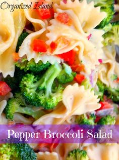 Pepper and Broccoli Salad #pasta #salad