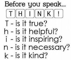 Five great questions to ask before you speak?