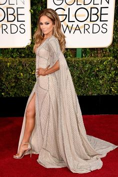 Jennifer Lopez, Golden Globe 2015. ONLY this woman could pull this off.