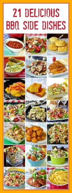 20 Best Barbecue Side Dishes – so many easy recipes to choose from! 21 Best Barbecue Side Dishes – so much to choose from! From cornbread to potato salads, baked beans & beyond; make your next backyard BBQ something special. Bbq Recipes Sides, Side Dish Recipes, Grilling Recipes, Cooking Recipes, Easy Recipes, Barbecue Recipes, Vegetarian Grilling, Potato Recipes, Healthy Cooking