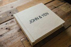 This album for John &Yen shows theirpre-wedding portrait session…
