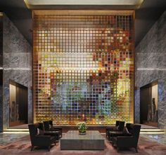 Conrad Hotel in Beijing, China - Architectural project: MAD Architects - Lighting project: Grand Sight Design International Limited - Lighting products: Reflex by iGuzzini illuminazione - Photo: kind concession of Grand Sight Design International Limited Lobby Interior, Interior Architecture, Interior Design, Commercial Design, Commercial Interiors, Conrad Hotel, Public Hotel, Bar Design, Design Hotel