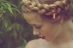 The Look: milkmaid braids Pretty Hairstyles, Straight Hairstyles, Braided Hairstyles, Milkmaid Braid, Innocent Girl, Dye My Hair, Character Aesthetic, Life Is Beautiful, Hair Inspiration