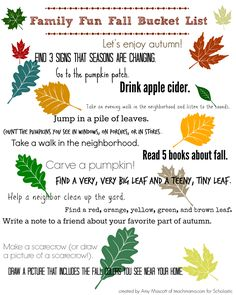 What is your family planning this fall? Click for our fall bucket list.