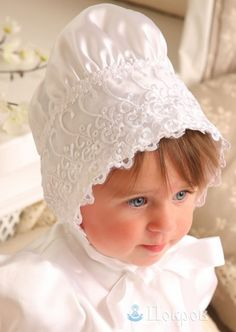 "$ 22 Baptismal Cap ""Tree of Life"" made of silk. Headgear for baptism. Dresses for baptism. Baptismal shirts. Baptismal clothing. Kryzhma."