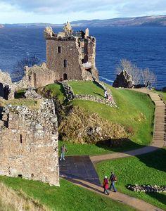 #hiking around #Urqhart Castle,  Loch Ness, #Scotland