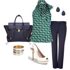 Summer day in the office, created by jaimebrink on Polyvore