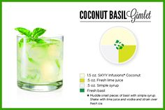 Sounds weird, tastes great: the coconut basil gimlet + more Memorial Day cocktail recipes!