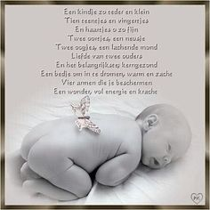 Baby met gedicht