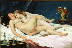 Sleep by Gustave Courbet (Same guy who painted the vagina, painted sleeping lesbians. I like this dude.-L.)