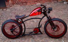 Röder-Bikes - Bobber E-Bike #taobike Custom Moped, Custom Choppers, Custom Motorcycles, Custom Bikes, Custom Baggers, Velo Retro, Velo Vintage, Vintage Bicycles, Trike Bicycle