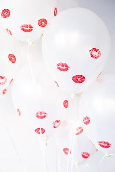 DIY Kissed Balloons // cute