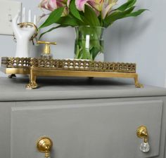 Furniture Transformation: Jewelry Station! Check out this adorable and classy DIY project that was easily done by using a Finish Max Super paint sprayer. | HomeRight