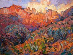 Zion National Park small original oil painting for sale