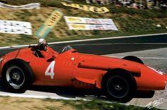 Jean Behra (Maserati 250F) Grand Prix de France - Rouen-Les Essarts 1956