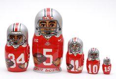 Ohio State Buckeyes nesting doll matryoshka 5 pc  by artmatryoshka, $59.90
