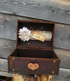 Rustic Wedding Card Box Trunk Holder