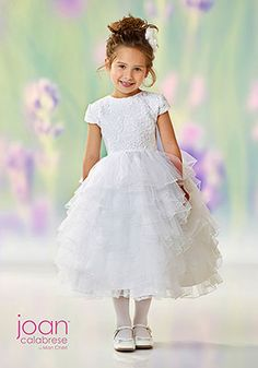 4f975a442fa Joan Calabrese Flowergirl Dress by Mon Cheri style 118329 available for  online purchases.