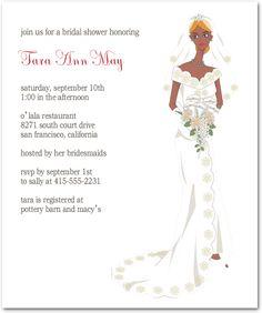 Elegance Bride Portrait Bridal Shower Invitations HPB105 Bride Portrait, Font Styles, Response Cards, Bridal Shower Invitations, Invitation Cards, Wedding Day, Bridesmaid, Formal Dresses, Elegant