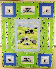 Idea for a panel quilt Aunt Judy's Attic: Lewe the Ewe Free Quilt Pattern