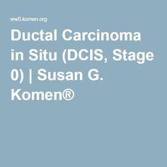 Ductal Carcinoma in Situ (DCIS, Stage 0) | Susan G. Komen®