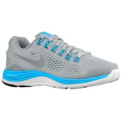 Nike LunarGlide + 4 - Women\u0026#39;s - Cool Grey/Laser Purple/Atomic Teal/