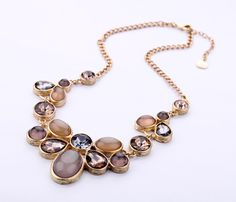 Min $10 Free Shipping J Fall fashion woman jewelry brown necklace collar crew necklace pendant-in Choker Necklaces from Jewelry on Aliexpress.com | Alibaba Group