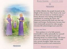 Today's Atlantis Card – Diana Cooper Diana Cooper, Angel Guide, Indigo Children, 7th Heaven, Daily Tarot, Divine Light, Star Children, Angel Cards, Psychic Abilities