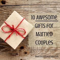 10 Awesome Gifts for Married Couples - check out clearview idea